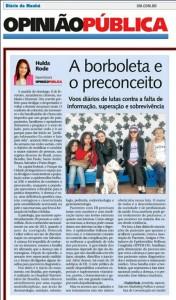 Diario da Manha - A borboleta e o preconceito - 13fev15